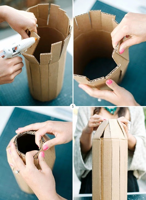 How to Make a Buoy Garland with Cardboard