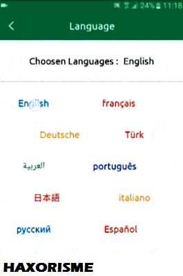 Pilih Bahasa Inggris WhatsClone