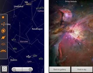 mapa das estrelas e constelações  - celular aplicativo android - SKY MAP