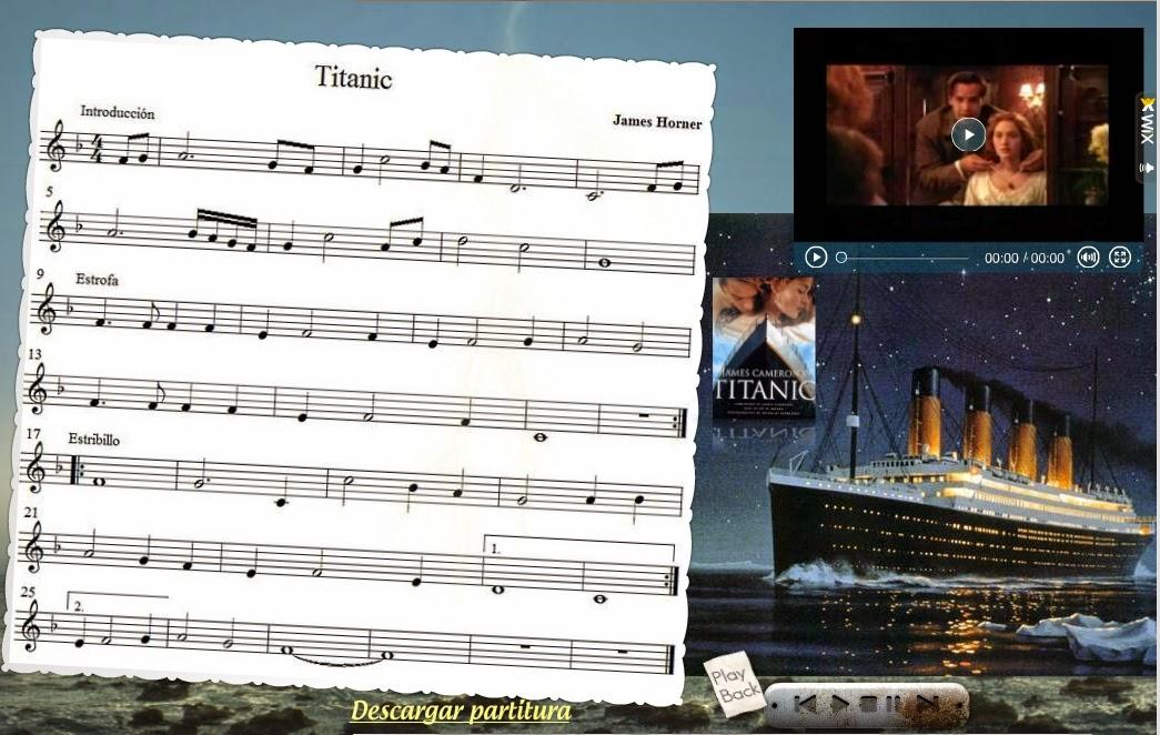 MÚSICA EN EL AULA: Partitura: Titanic