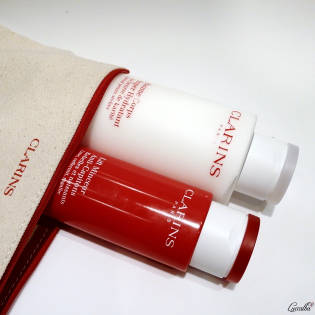 Lift Minceur Anti-Captions y Baume Corps Super Hydratant de Clarins.