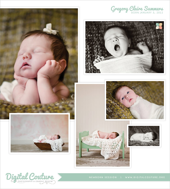 Digital couture baby claire • newborn session • memphis tn