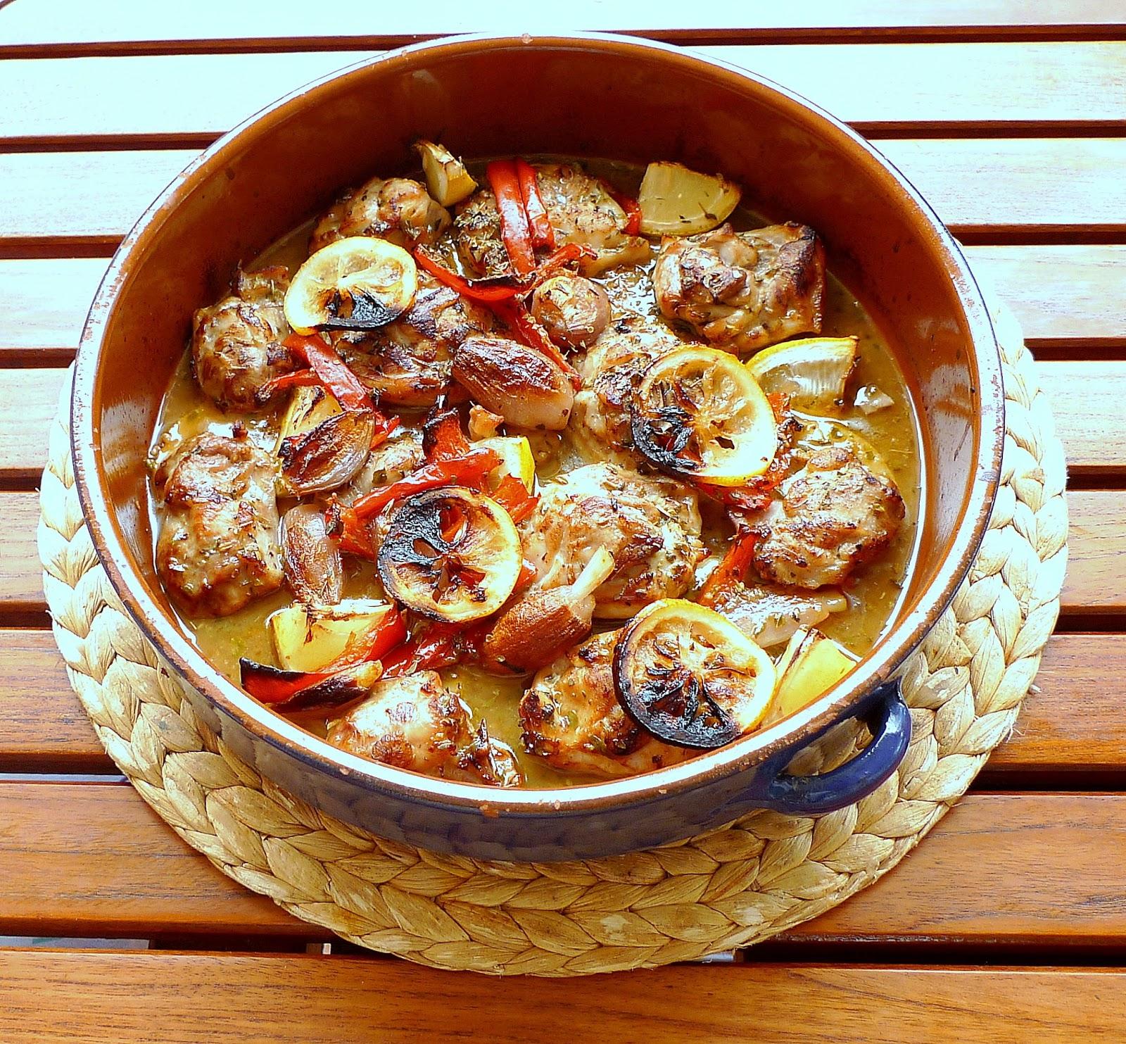 El pasaplatos pollo al horno con lim n y or gano - Pollo al horno con limon y patatas ...