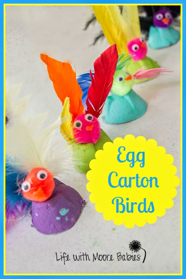 How to Turn Egg Cartons into these Adorable Little Birds