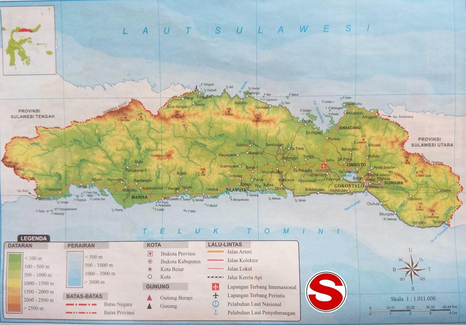 image: Peta atlas Provinsi Gorontalo