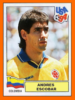 Andres Escobar football sticker