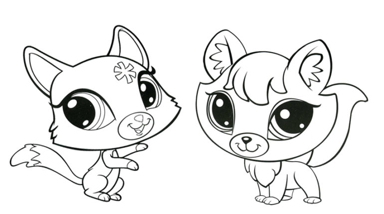 lps coloring pages kitten - photo#14