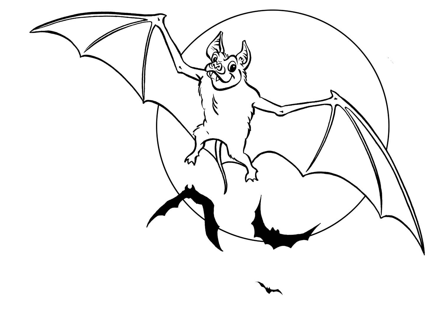 Wild animal bat coloring pages free to print for Bats coloring pages