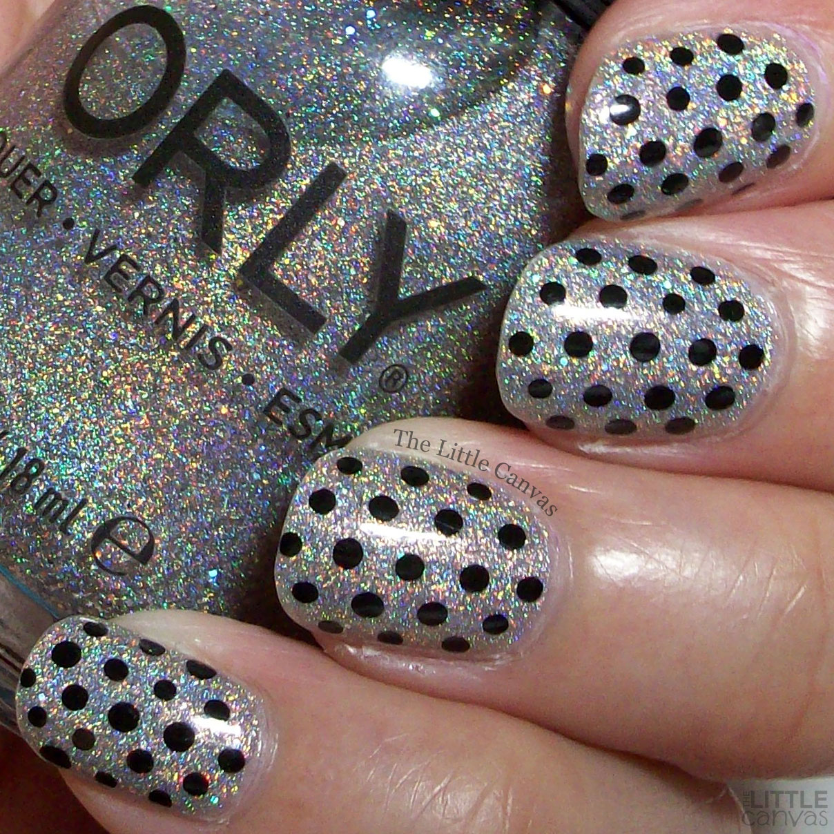 The One With the Polka Dots and ORLY Mirrorball - The Little Canvas