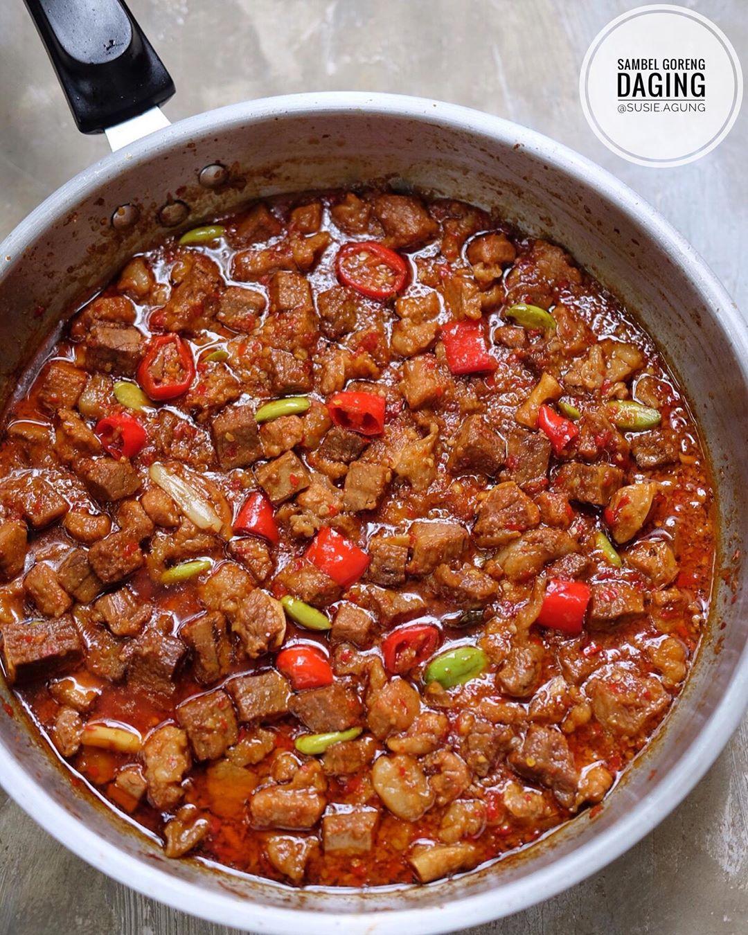 1.126 resep sambal goreng daging pedas enak dan sederhana