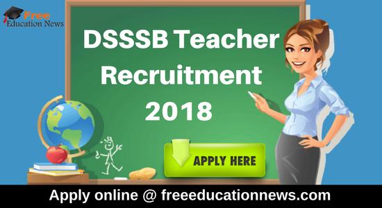 DSSSB Recruitment 2018