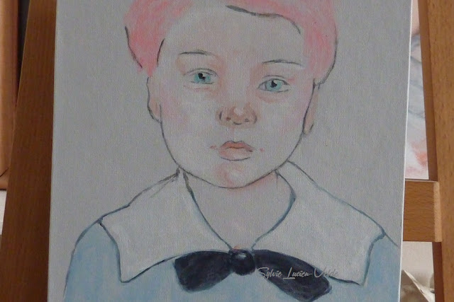 peinture acrylique de Sylvie Lucien-Velde - enfance