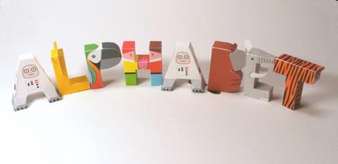 alphabet-papercraft-2  D Paper Letter Templates on printable box, cut out,