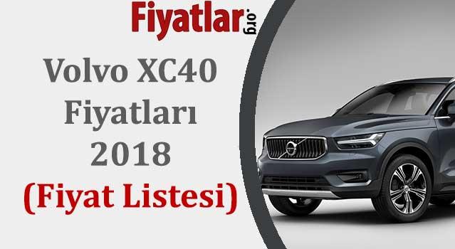 volvo xc40 fiyatları (2018 fiyat listesi)