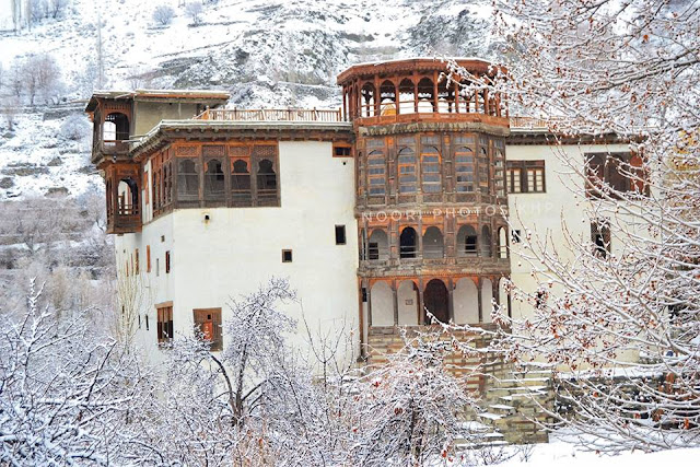 Khaplu Fort in summer
