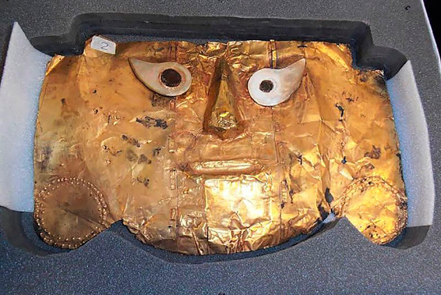 Germany returns priceless gold mask to Peru