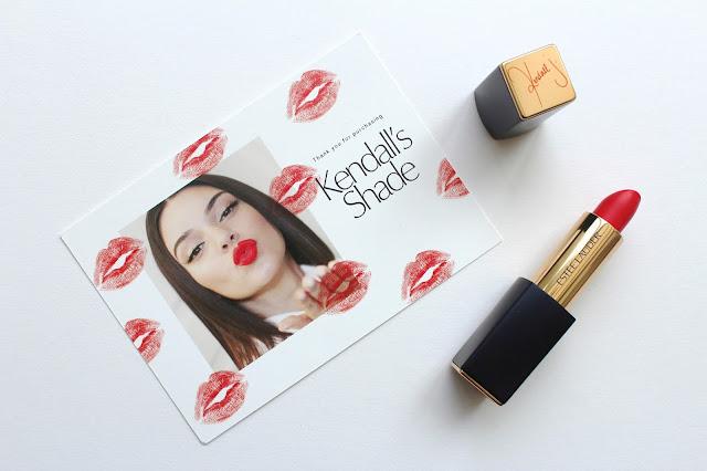 estee auder kendall jenner kardashian lipstick restless matt red beauty make up lips bblogger bbloggers blog blogger bloggers youtube youtuber review instagram