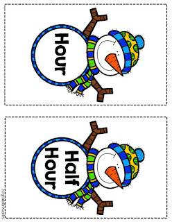 Snowman time header cards