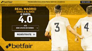 betfair supercuota Real Madrid gana al Alaves liga 23-9
