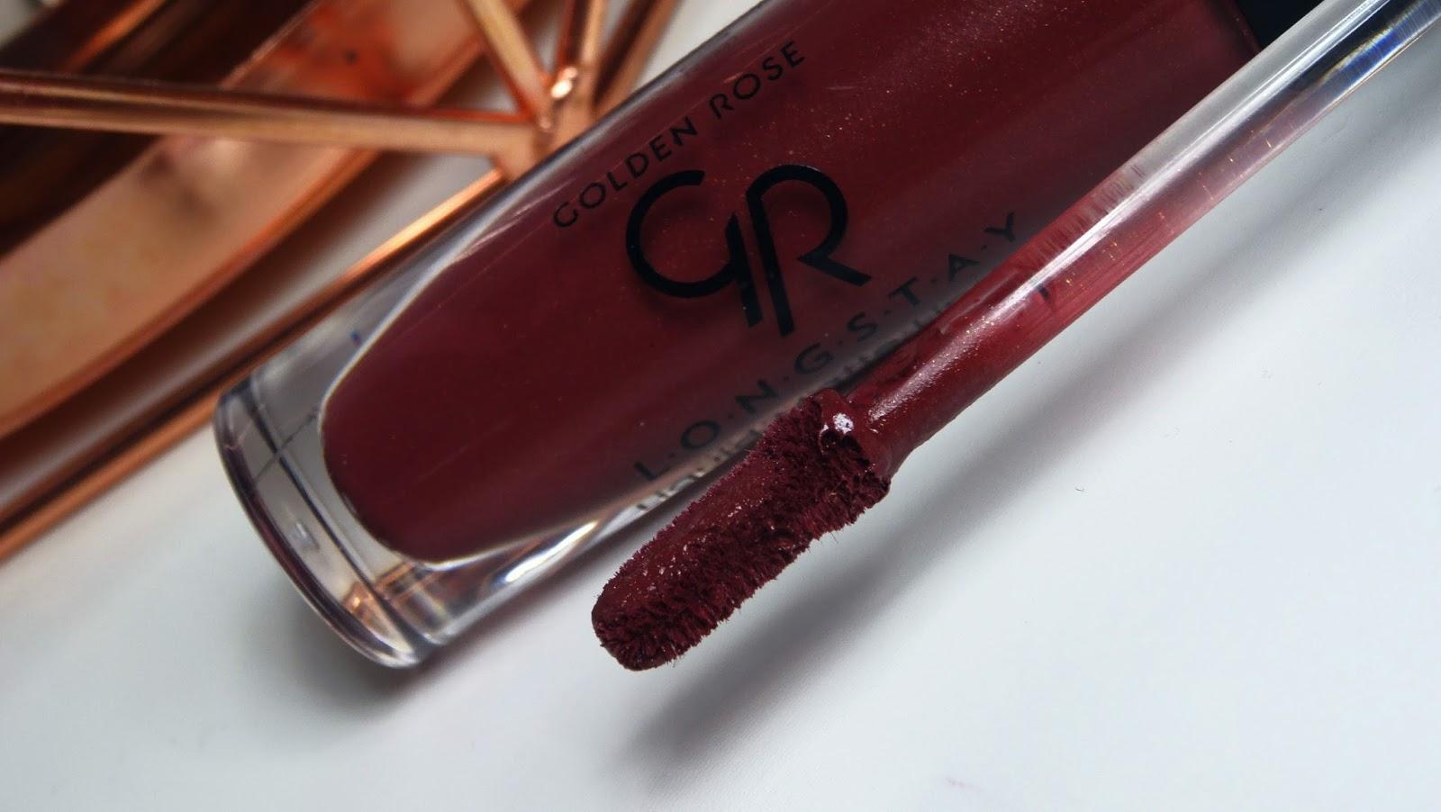 golden rose, matowa pomadka, longstay liquid matte lipstick 12, trwałe pomadki