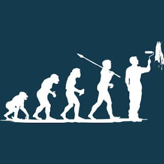 Funny Evolution Painter Decorator House Cartoon