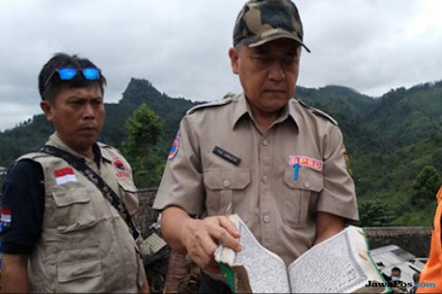 Subhanallah! Jenazah dan Alquran Ditemukan Utuh Bersih di Timbunan Longsor Sukabumi