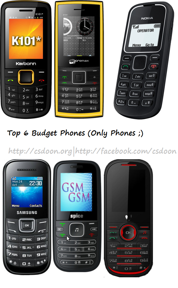 Top 6 Budget Mobile Phones