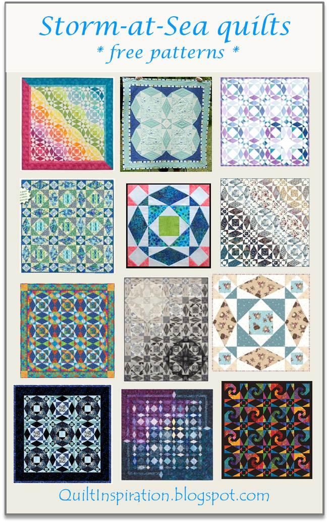 Quilt Inspiration: Storm-at-Sea Quilts, free block ...