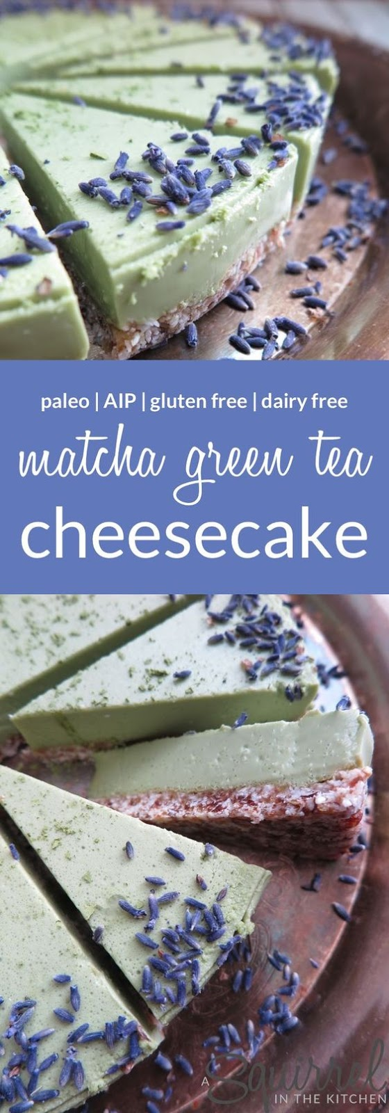 NO-BAKE MATCHA GREEN TEA CHEESECAKE [DAIRY-FREE-GLUTEN-FREE-PALEO-AIP]