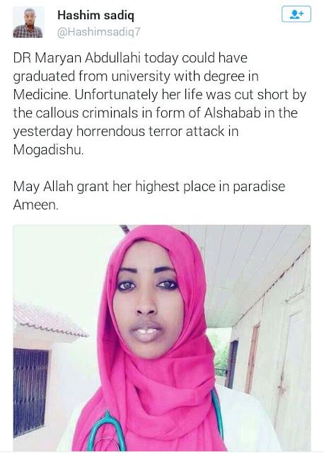 22-year-old Maryan killed in Somalia