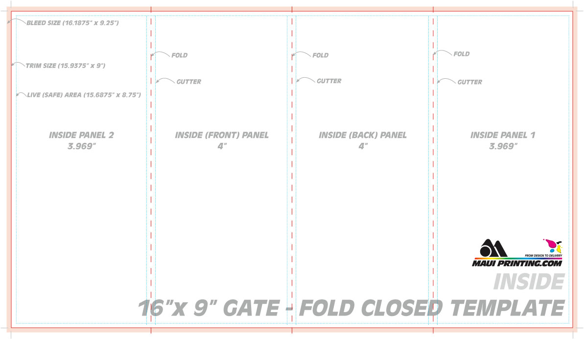 Blank four fold brochure template free download d for Double gate fold brochure template