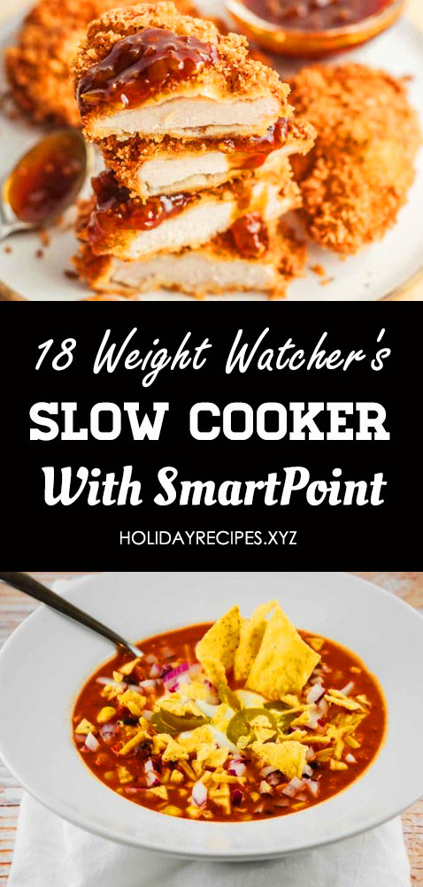 18 Weight Watchers Slow Cooker Recipes with Smart Points. Weight watchers meals, Crockpot soup, Healthy slow cooker recipes, Weight watchers crock pot recipes, Soup recipes slow cooker, Meatball soup recipes. Include: Chicken, Dishes, Soup, Chili, Meals, Beef, Crockpot, Pot Roast #weightwatchersslowcookerrecipes #weightwatchersmeals #weightwatcherscrockpotrecipes #healthyslowcookerrecipes