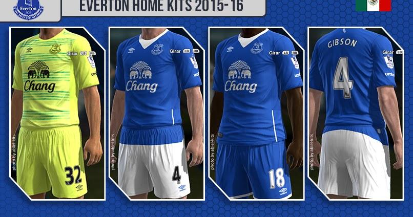 d93adbdb0 Everton Home Kits 2015-16