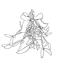 It is an image of Dramatic Mistletoe Coloring Page