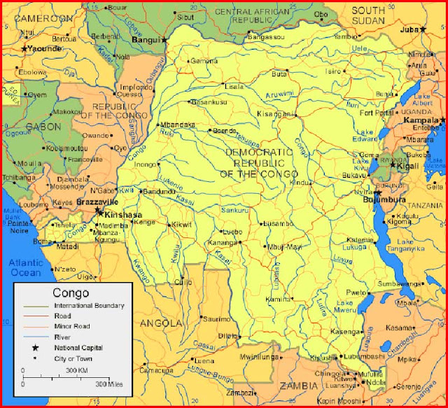 Gambar Peta Republik Demokratik Kongo