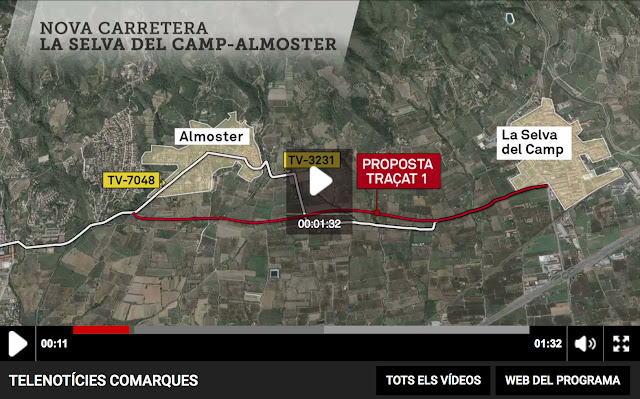 http://www.ccma.cat/tv3/alacarta/telenoticies-comarques/polemica-per-la-nova-carretera-entre-la-selva-del-camp-i-almoster/video/5626020/