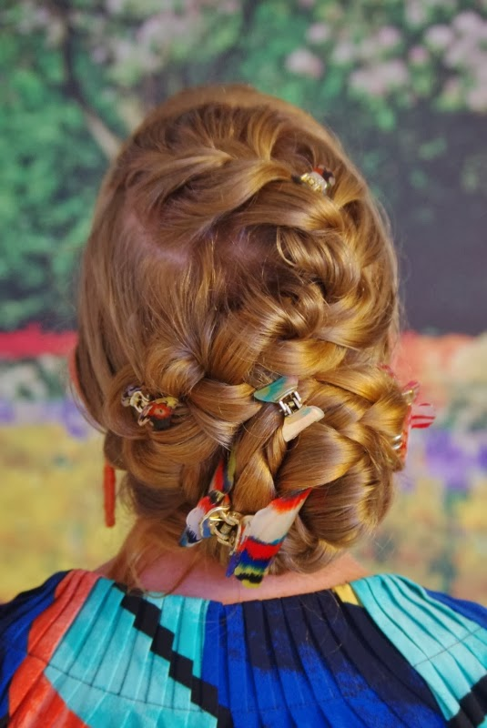Braids Hairstyles For Super Long Hair Birthday Party Updo