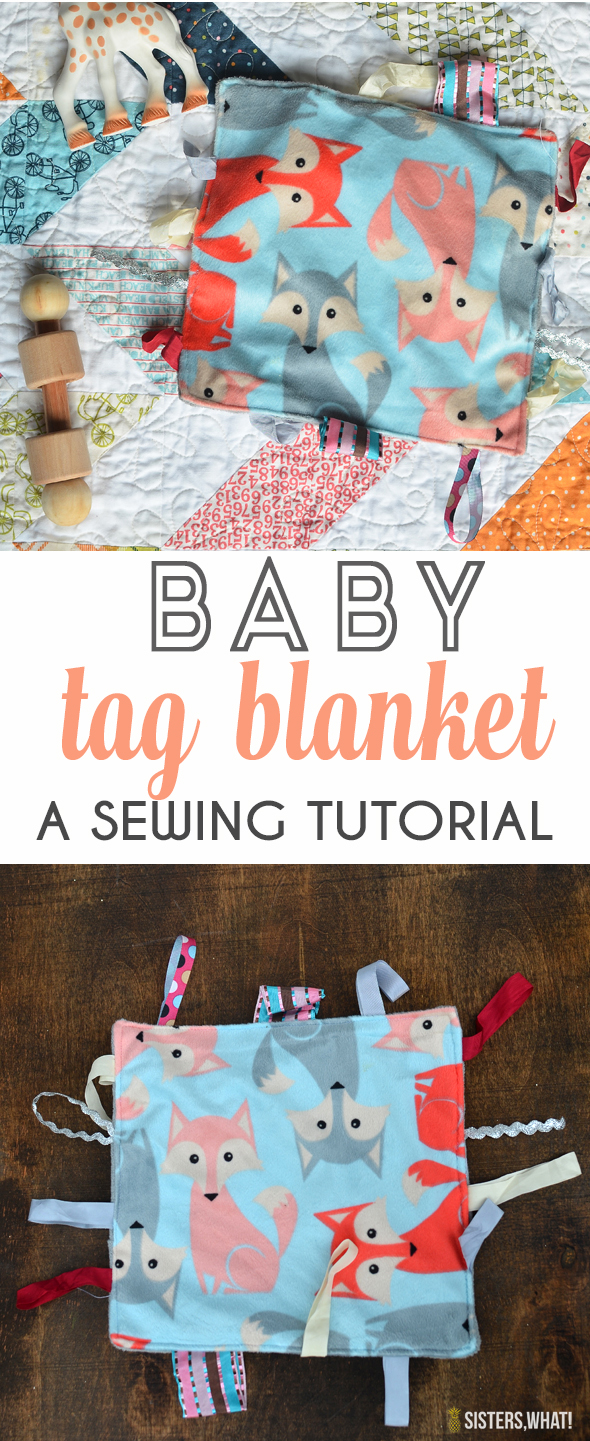 baby toy sewing tutorial for a baby tag blanket for baby shower gift