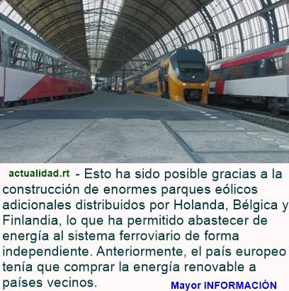 ¿Solo el principio?: Todos los trenes neerlandeses funcionan con energía eólica