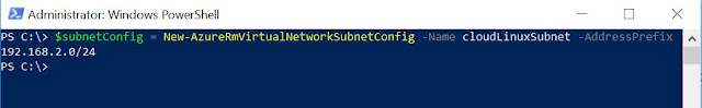 Configure the subnet details