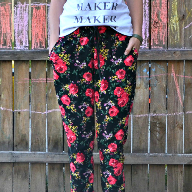 Me Made: Floral Liverpool Hudson Joggers