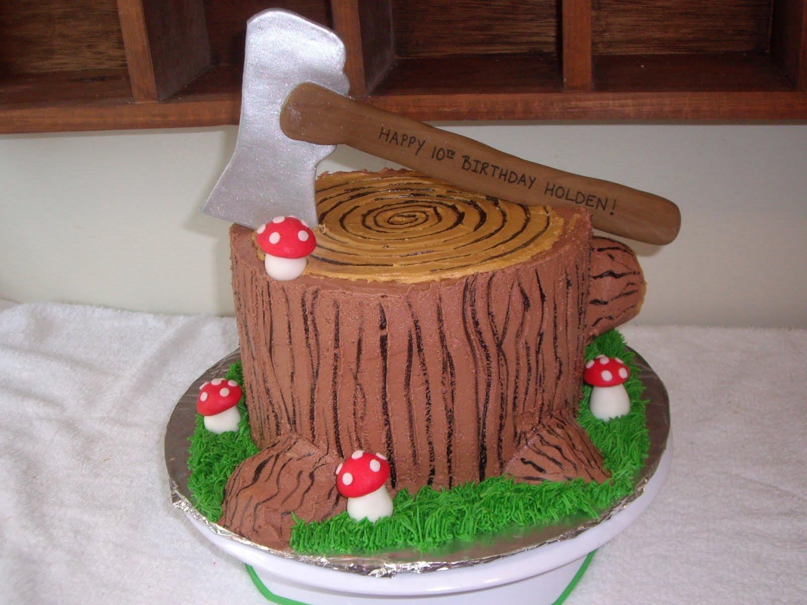 Custom Cakes By Christy Tree Stump Cake