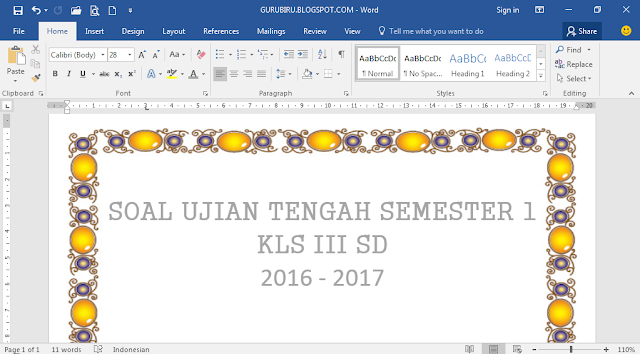download soal uts kelas 3 SD