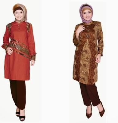 Contoh Gambar Batik Muslim Terbaru