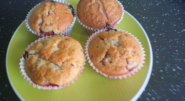 Weekend Bake - Very Berry and White Chocolate Muffins