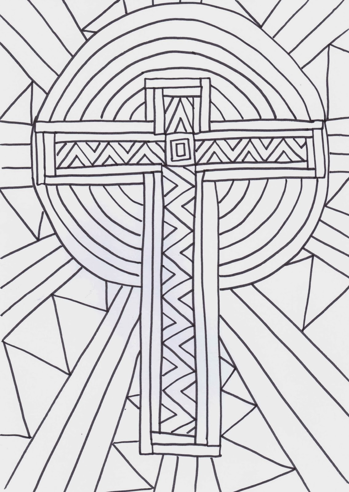 reflective colouring pages