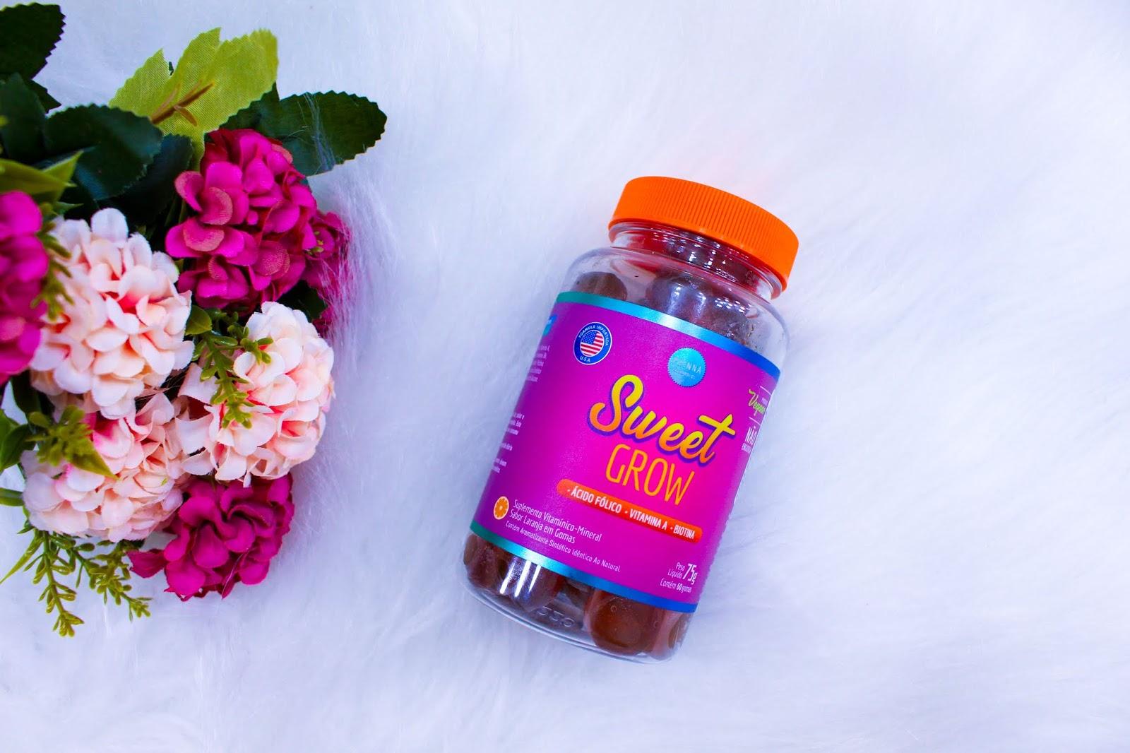 Suplemento Vitamínico-Mineral Sweet Grow da Phinna Cosméticos
