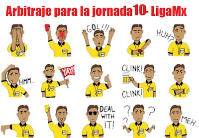 Arbitraje para la jornada 10 del futbol mexicano