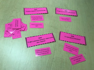 Action step sort cards that help students develop a plan to reach their goals.