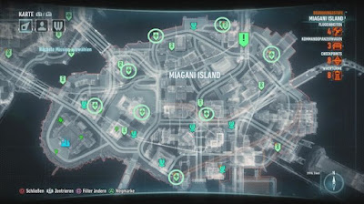 Batman Arkham Knight, Own the roads, Miagani Island, checkpoint Locations map